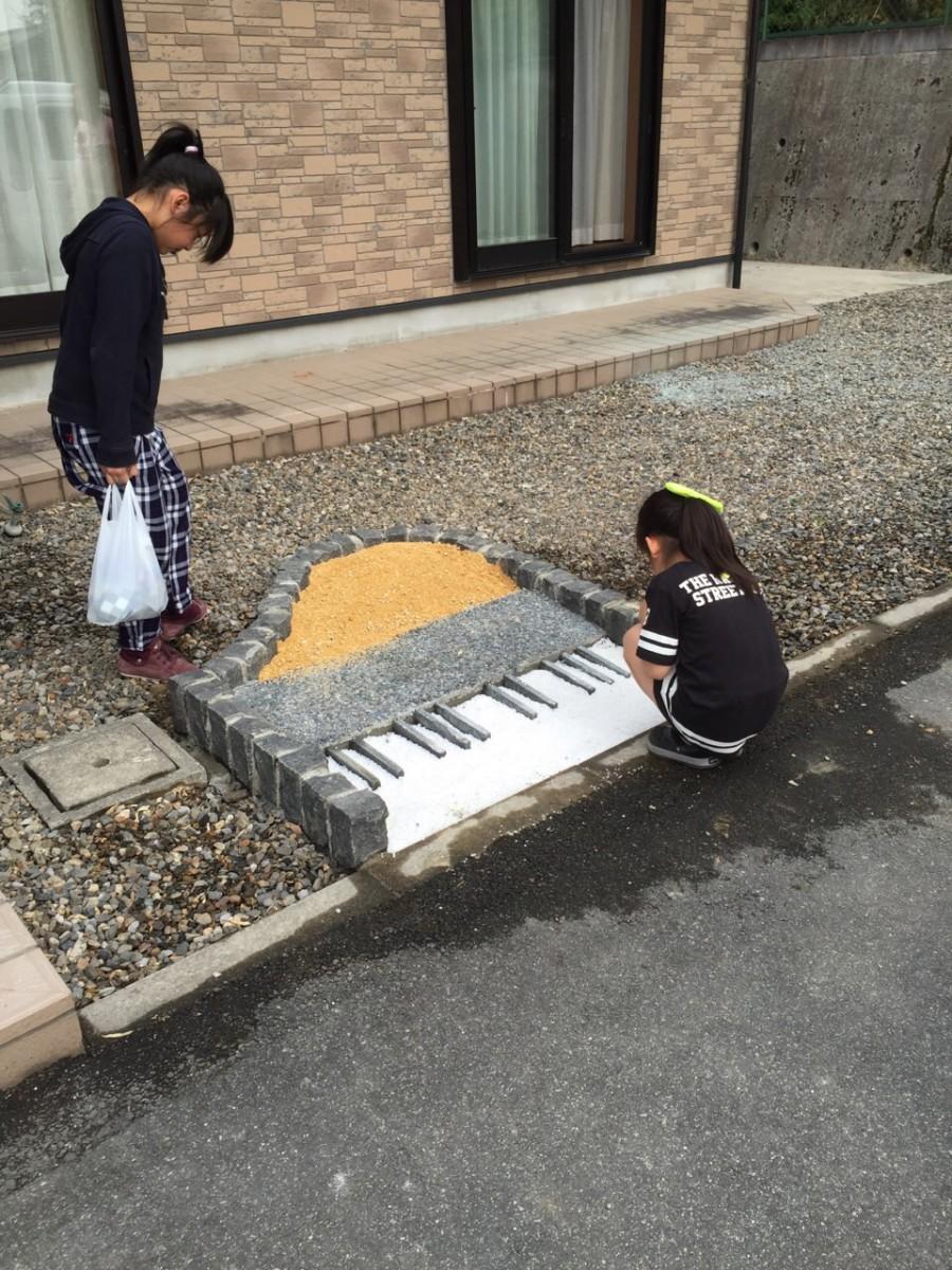 滋賀県 外構 タイル